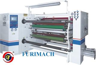FR-261 光学材料全自动双轴中心分条复卷机